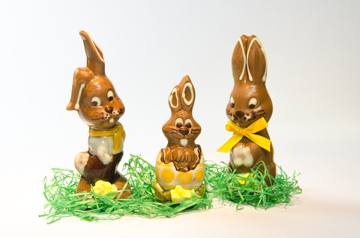 Ostern und Schokoladenosterhasen aus dem afe, Konditorei, Confiserie Besold in Weismain