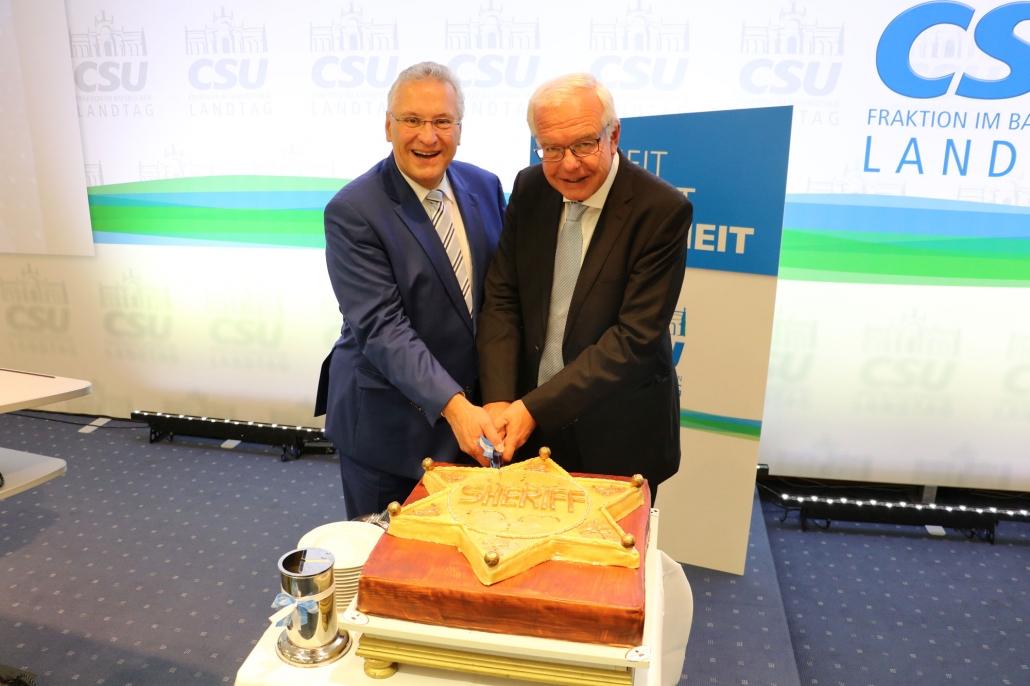 Geburtstagstorte für Joachim Herrmann