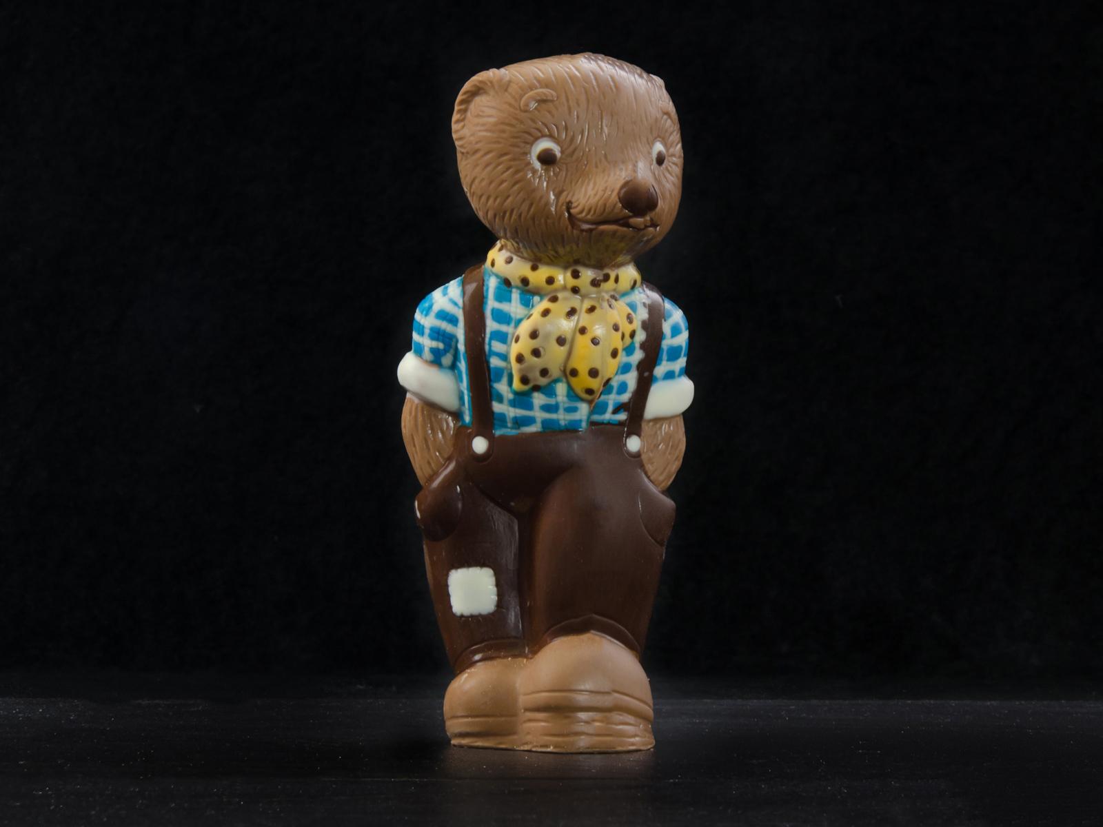 Schokoladenfiguren im Cafe Besold am Weismain in der Fränkischen Schweiz.