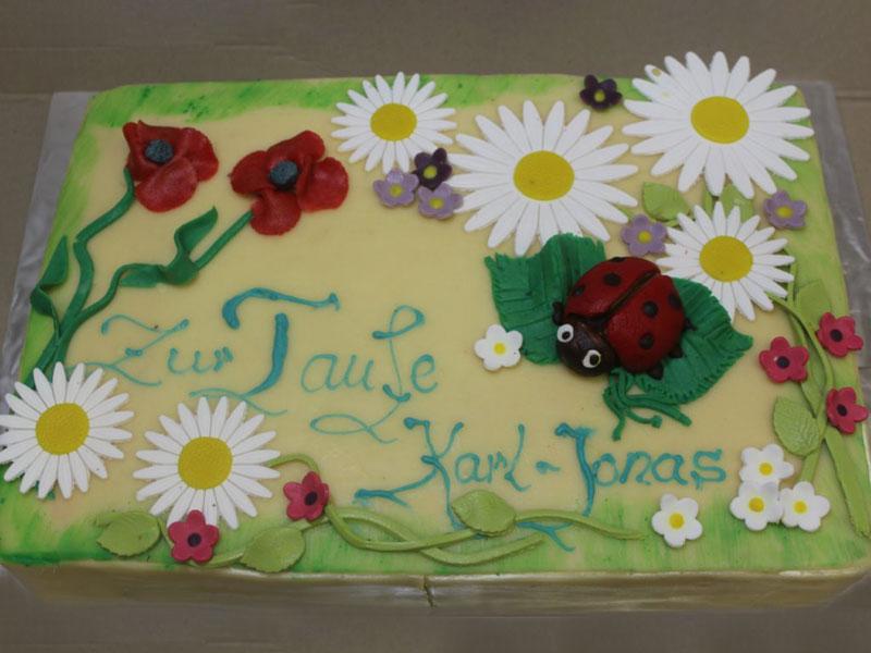 Torten für Ihre Taufe - Cafe Besold in Weismain in der Fränkischen Schweiz